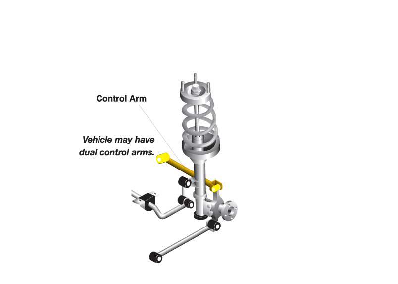 WHITELINE Complete Lower Control Arms Set, 04-07 Subaru IMPREZA STI Sedan