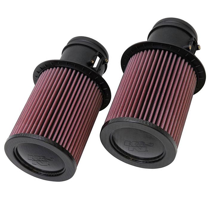 K&N High Flow Air Filters Pair, 09-15 Audi R8, Lamborghini GALLARDO, 5.2L