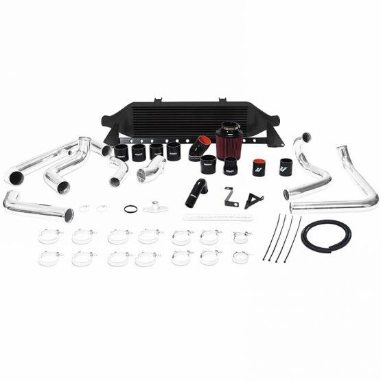 MISHIMOTO Front-Mount BLACK Turbo Intercooler Kit w/Intake, 08-14 Subaru WRX