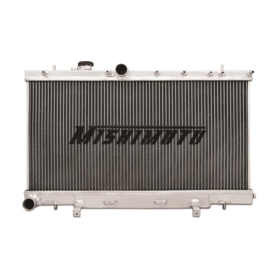 MISHIMOTO Aluminum X-Line 3-Row Performance Radiator, 01-07 Subaru WRX/STI