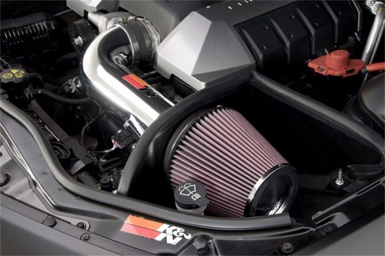 K&N 69-4519TP Polished Cold Air Intake, Camaro 6.2L V8