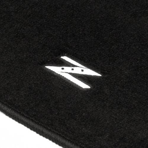 NRG Black Carpet Floor Mats Set, Z Emblem Logo, for 2003-2009 Nissan 350Z