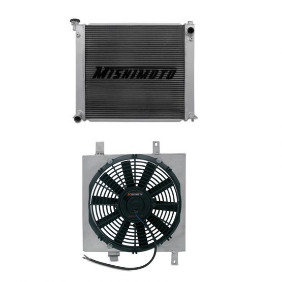 MISHIMOTO Aluminum Radiator + Fan Shroud for Nissan 300ZX Turbo (90-96) Z32, Manual
