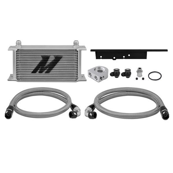 Mishimoto Oil Cooler Kit, Silver or Black, Thermostatic, for Nissan 350Z + G35 Coupe