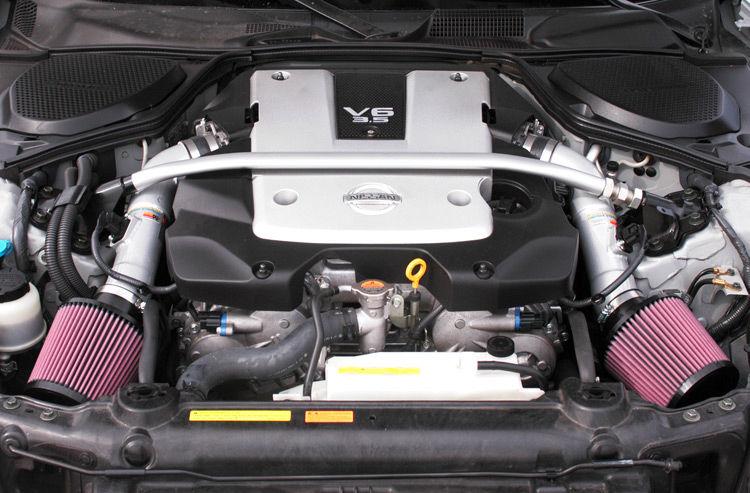 K&N Typhoon Dual Air Intake, for 2007-2008 Nissan 350Z, +8 HP, +7.5TQ