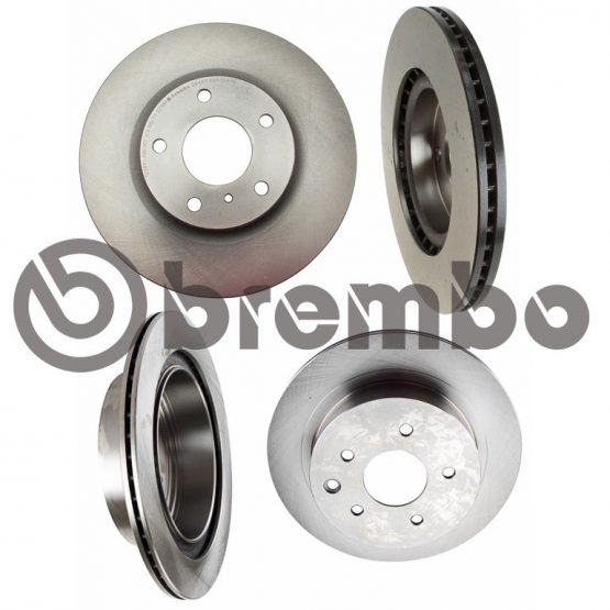 BREMBO Front & Rear Replacement Brake Rotors for 03-05 Nissan 350Z, Infiniti G35