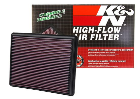 K&N Washable High Flow Air Filter for '99-17 SILVERADO, SIERRA, 4.3L, 4.8L, 5.3L